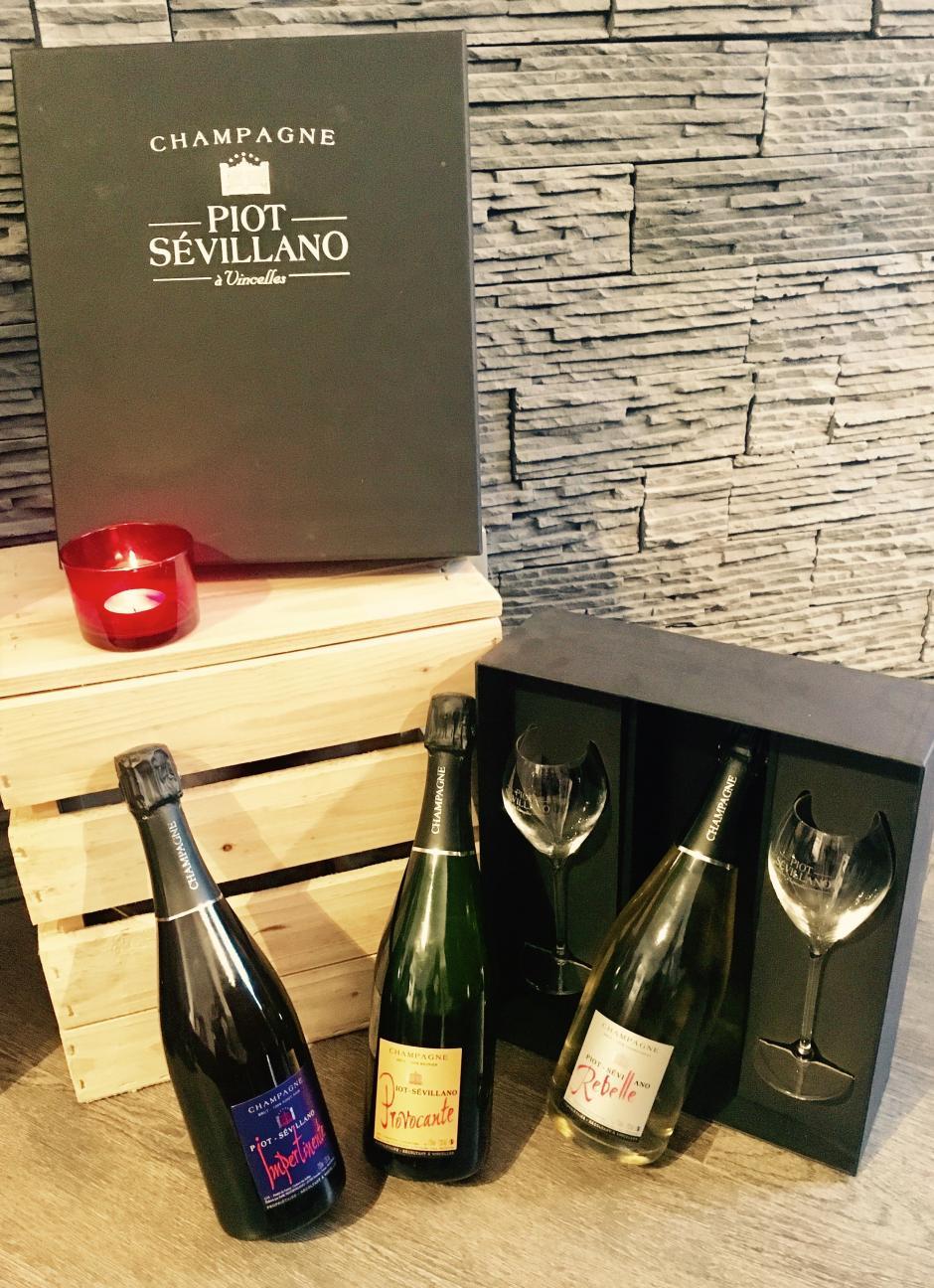 coffret caracterielle champagne de vigneron